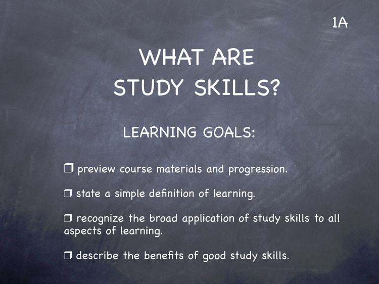 Lesson 1 - Study Skills Classroom Slides - page1