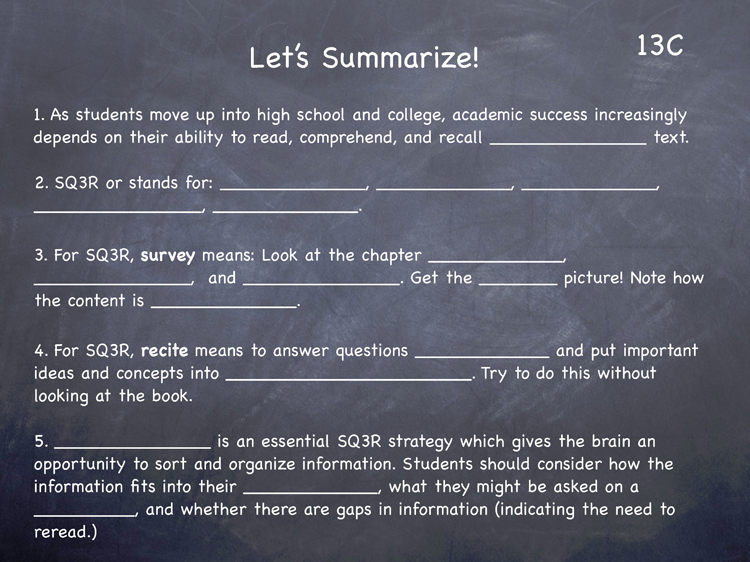 Lesson 13 - Study Skills Classroom Slides - page3