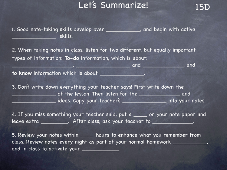 Lesson 15 - Study Skills Classroom Slides - page4