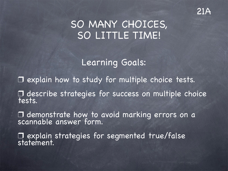 Lesson 21 - Study Skills Classroom Slides - page1