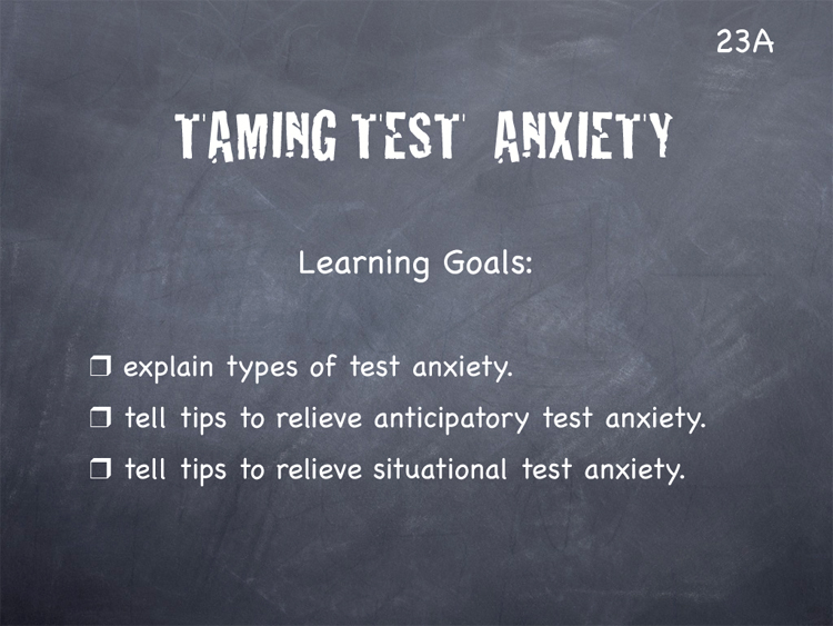Essay on test anxiety